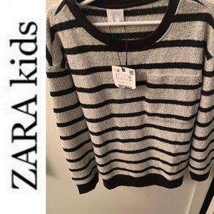 💥HP ZaRA kids sweater striped boys 9 NWT cardigan